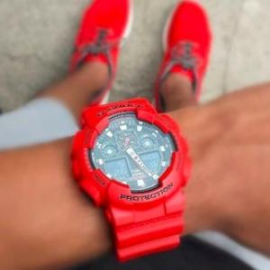 超值价¥489Casio G-Shock 中性腕表 红色闪电