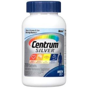 Centrum Silver Men's 50 Plus Multivitamin Tablets, 200 CtbyCentrum