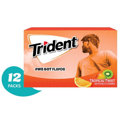 $6.75Trident Tropical Twist Flavor Sugar Free Gum—12 Packs (168 Pieces Total)