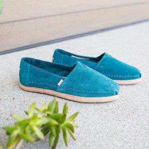 低至5折+额外9折 多色可选TOMS 英国官网休闲鞋靴圣诞折上折热卖