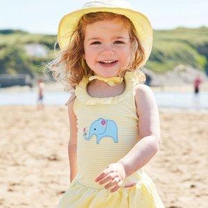 8折 跟晒伤、晒黑说byebye最后一天:JoJo Maman Bébé 婴幼童泳衣、遮阳帽等产品特卖