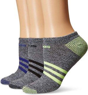 $10.29(原价$18.00)adidas 女子低帮休闲运动袜 6双 多颜色