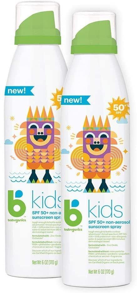 儿童防晒喷雾 50 Spf, 6 盎司*2瓶