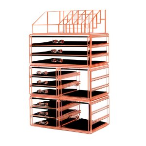 HBlife Makeup Organizer Acrylic Cosmetic Storage Drawers and Jewelry Display Box