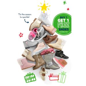买一送一卡特家姐妹店OshKosh BGosh鞋款促销,从婴儿到青少年尺码都有