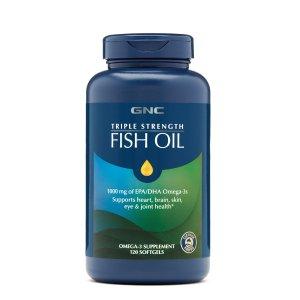 3 for $25GNC Triple Strength Fish Oil 120 softgels