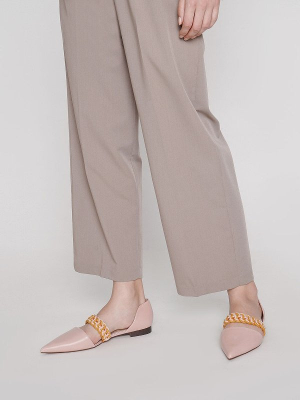 编织平底鞋