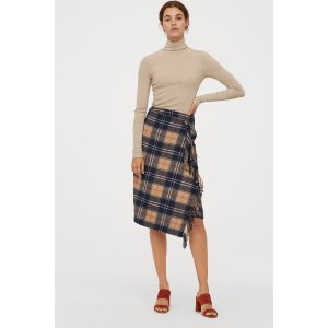 H&MCover StylesWrapover Skirt with Fringe
