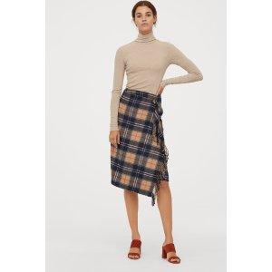 H&M封面同款围巾款式半身裙