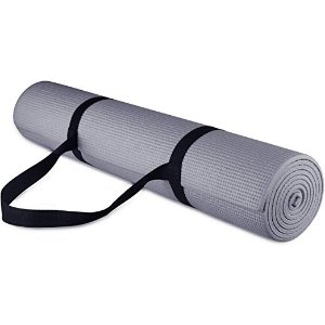 BalancefromGoYoga All Purpose High Density Non-Slip Exercise Yoga Mat with Carrying Strap