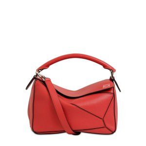 LoeweSMALL PUZZLE LEATHER TOP HANDLE BAG