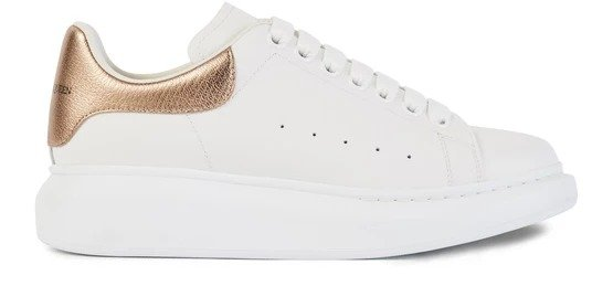 玫瑰金尾小白鞋