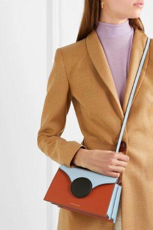 Danse Lente | Phoebe mini color-block leather shoulder bag | NET-A-PORTER.COM