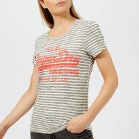 Superdry 条纹印花复古女款T恤