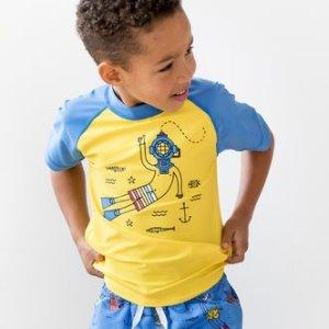 额外7折+新用户额外8折Hanna Andersson 男童服饰促销 收夏季短袖T恤和泳衣