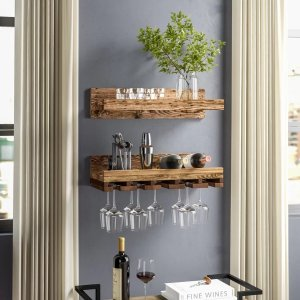 Trent Austin DesignBernon Rustic Wall Mounted Wine Glass Rack