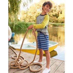 BodenJersey Shorts - Duke Blue/Blue Marl | Boden US