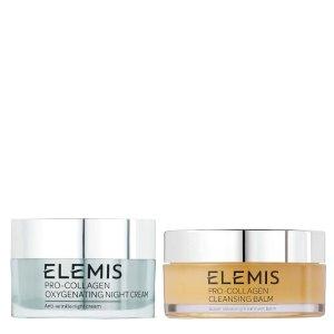 Elemis卸妝膏105g+注氧晚霜50ml骨胶原护肤2件套