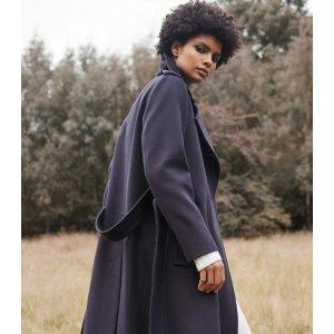 Reiss羊毛混纺大衣