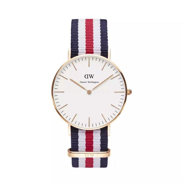 经典三色帆布表带腕表