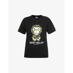 BapeBaby Milo graphic-print cotton-jersey T-shirt