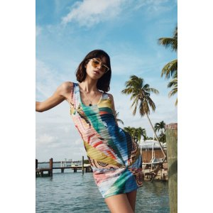 DesigualAbstract Short Dress - Minerva | Desigual.com