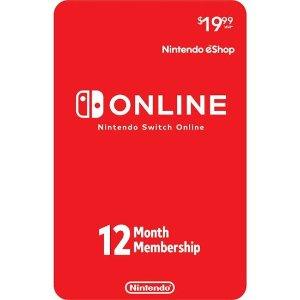 $19.99起 $35含128GB SD卡Nintendo Switch Online 1年份 个人/家庭 会员