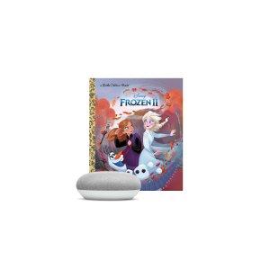 Google Home Mini (Chalk) & Frozen II Book Bundle
