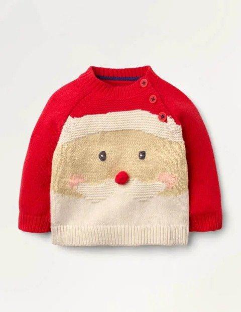 婴幼儿圣诞老人毛衣