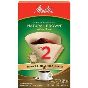 100张MELITTA 咖啡壶过滤纸(天然棕)