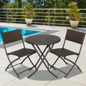 $74.99Best Choice Products 3-Piece Folding Rattan Bistro Furniture Set
