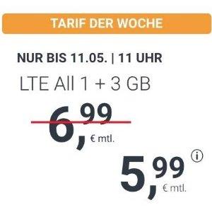 月租€5.99 代号入网送€6.8211点截止!每月送3GB!包月所有电话/短信+4GB上网+欧盟漫游