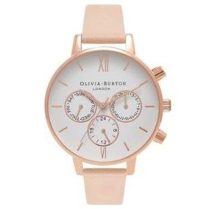 Olivia Burton蜜桃粉手表
