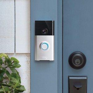 $124.99(原价$179)Ring 超智能 与移动设备连接 可视化门铃