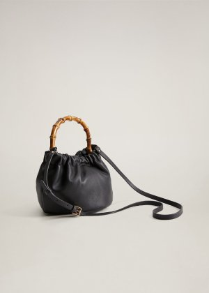 Bamboo handle bag -  Women | Mango USA