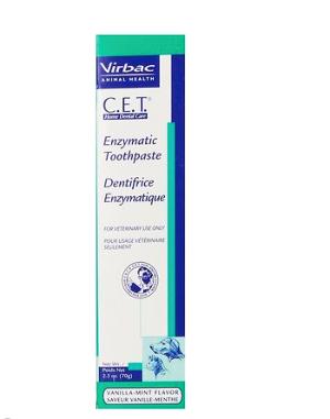 Virbac C.E.T. Enzymatic Dog & Cat Vanilla-Mint Flavor Toothpaste, 70 gram - Chewy.com