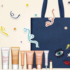 满额送8件套礼包 + 任意单免邮Clarins 全场美妆护肤热卖 收双萃精华