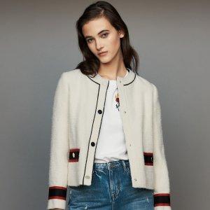 低至2折 明星同款毛衣立减$267Maje官网 精选女士毛衣、外套特卖