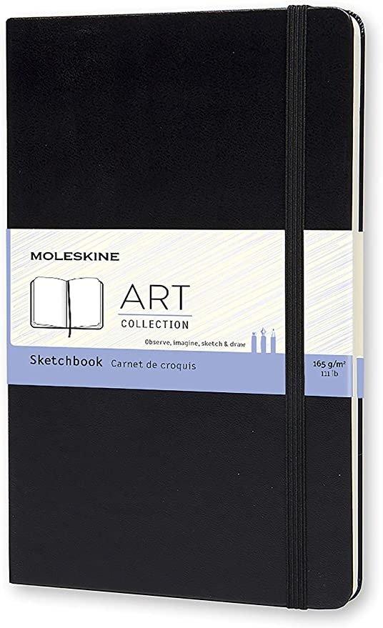 经典硬壳笔记本- Sketchbook - Large - Black, (QP063)