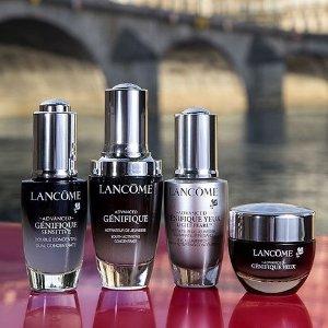低至7.8折+额外7.5折Lancome 护肤产品热卖 收小黑瓶、粉水、眼霜套装