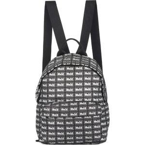 McQ by Alexander McQueen- Metal Repeat Logo Backpack - Black