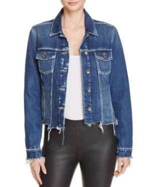 PAIGE Uneven Rowan Denim Jacket in Felix