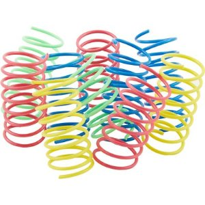 Ethical Pet Wide Durable Heavy Gauge Plastic Colorful Springs Cat Toy - Chewy.com
