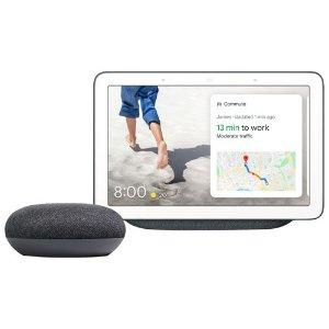 黑色 Nest hub+google mini