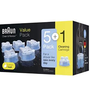 原价40欧,现折后6只装仅26.99欧Braun Clean und Renew CCR剃须刀清洗液盒补充套装