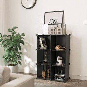 4.9折起 12格€29.99可收Cdiscount 多功能简易收纳柜 随意组合 能当衣柜鞋柜甚至书架