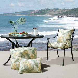 Madison ParkCoco Printed Leaf 3M Scotchgard Outdoor Square Pillow By Madison Park - Designer Living
