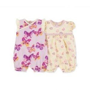 Burt's Bees Baby女婴童有机棉连体衣套装