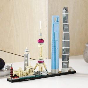 $59.99(原价$79.99) 收藏价值高LEGO21039 建筑系列 上海天际线 597pcs 首款中国城市题材
