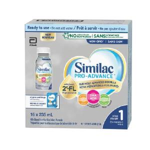 $41.78包邮(原价$49.98)Similac Pro-Advance 一段宝宝液奶 235毫升16个装 免疫健康